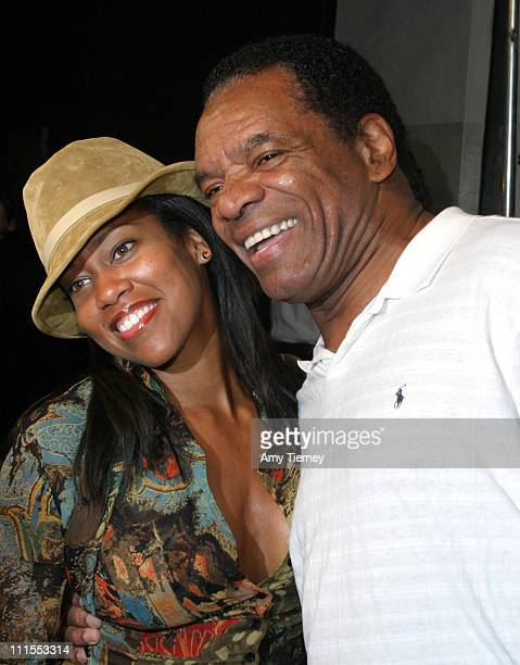 Regina King and John Witherspoon during The Boondocks Los Angeles Series Launch Party at Mood in Los Angeles California United States
