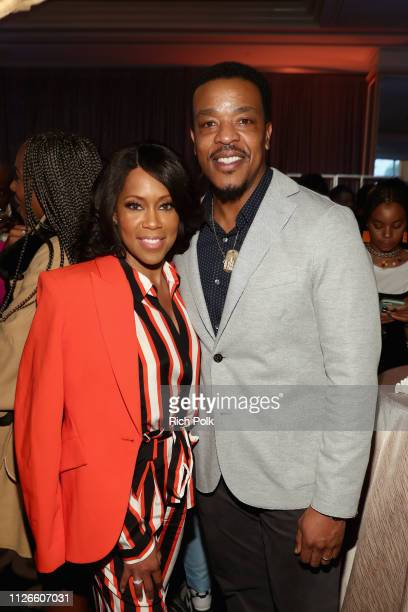 Regina King and Russell Hornsby attend the 2019 Essence Black Women in Hollywood Awards Luncheon at Regent Beverly Wilshire Hotel on February 21 2019...