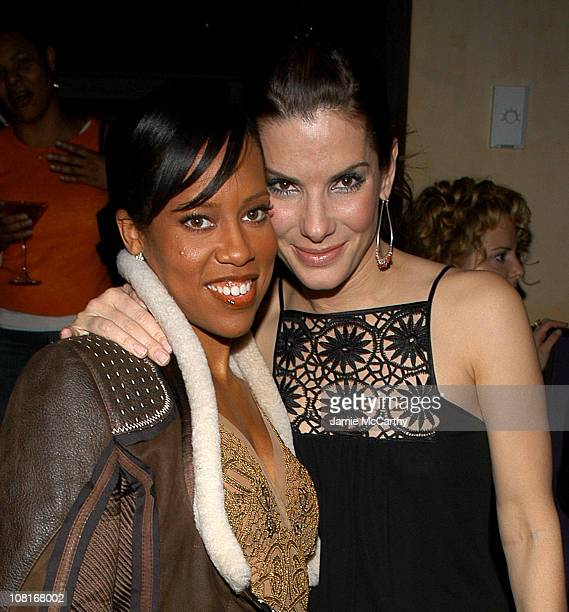 Regina King and Sandra Bullock during InStyle Magazine Hosts the Miss Congeniality 2 Armed and Fabulous After Party at Frederick's in New York City...
