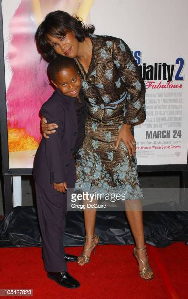 Regina King and son Ian Alexander Jr during Miss Congeniality 2 Armed and Fabulous Los Angeles Premiere Arrivals at Grauman's Chinese Theatre in...