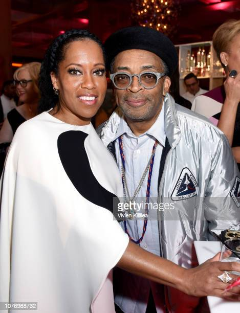 Regina King and Spike Lee attend the 30th Annual Palm Springs International Film Festival Film Awards Gala at Palm Springs Convention Center on...