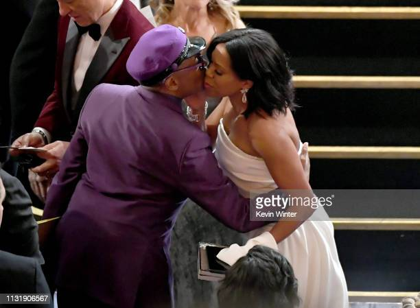 Regina King and Spike Lee during the 91st Annual Academy Awards at Dolby Theatre on February 24 2019 in Hollywood California