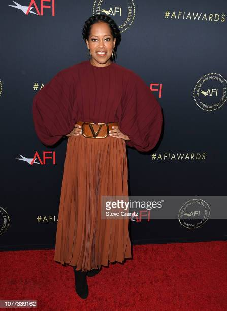Regina King arrives at the 19th Annual AFI Awards at Four Seasons Hotel Los Angeles at Beverly Hills on January 4 2019 in Los Angeles California