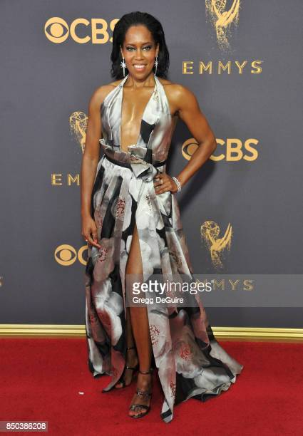 Regina King arrives at the 69th Annual Primetime Emmy Awards at Microsoft Theater on September 17 2017 in Los Angeles California