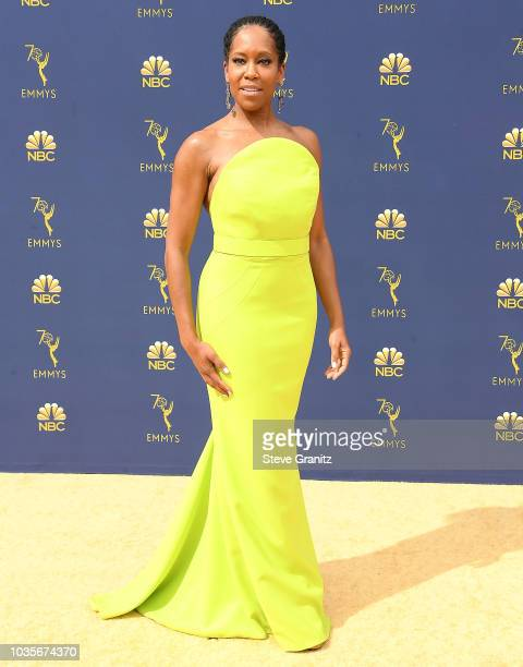Regina King arrives at the 70th Emmy Awards on September 17 2018 in Los Angeles California