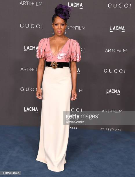 Regina King arrives at the LACMA Art Film Gala Presented By Gucci at LACMA on November 02 2019 in Los Angeles California