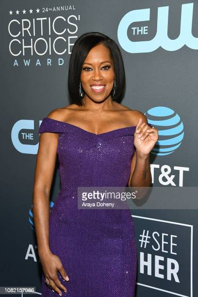 Regina King at Claire Foy Accepts The #SeeHer Award At The 24th Annual Critics' Choice Awards The Barker Hanger on January 13 2019 in Santa Monica...