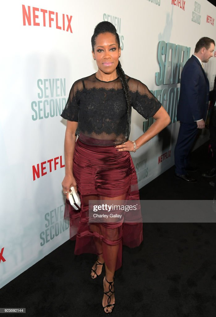 Regina King attends Netflix's 'Seven Seconds' Premiere screening and post-reception in Beverly Hills, CA on February 23, 2018 in Beverly Hills, California.