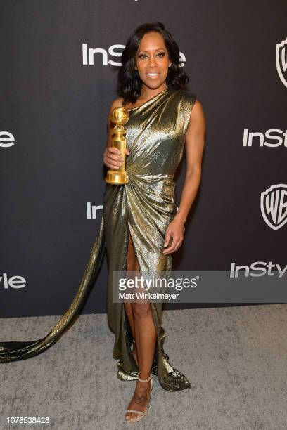 Regina King attends the 2019 InStyle and Warner Bros 76th Annual Golden Globe Awards PostParty at The Beverly Hilton Hotel on January 6 2019 in...