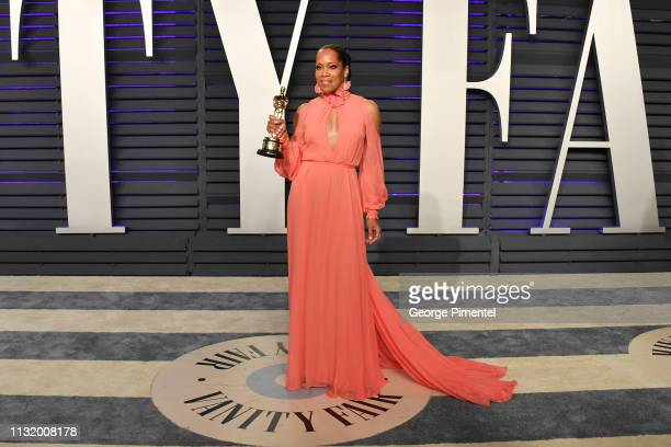 Regina King attends the 2019 Vanity Fair Oscar Party hosted by Radhika Jones at Wallis Annenberg Center for the Performing Arts on February 24 2019...