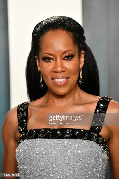 Regina King attends the 2020 Vanity Fair Oscar Party hosted by Radhika Jones at Wallis Annenberg Center for the Performing Arts on February 09, 2020...