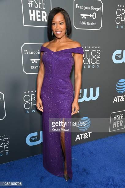 Regina King attends the 24th annual Critics' Choice Awards at Barker Hangar on January 13 2019 in Santa Monica California