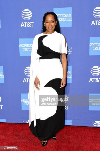Regina King attends the 30th Annual Palm Springs International Film Festival Film Awards Gala at Palm Springs Convention Center on January 3 2019 in...