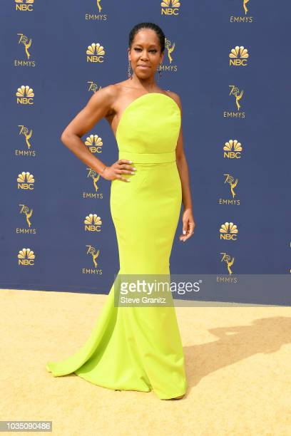 Regina King attends the 70th Emmy Awards at Microsoft Theater on September 17 2018 in Los Angeles California