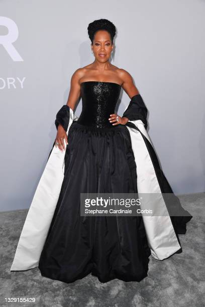 Regina King attends the amfAR Cannes Gala 2021 during the 74th Annual Cannes Film Festival at Villa Eilenroc on July 16, 2021 in Cap d'Antibes,...