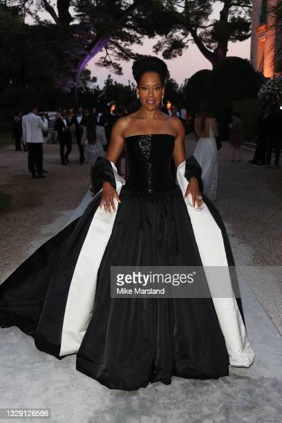 Regina King attends the amfAR Gala 2021 presented by The Red Sea International Film Festival during the 74th annual Cannes Film Festival on July 16,...