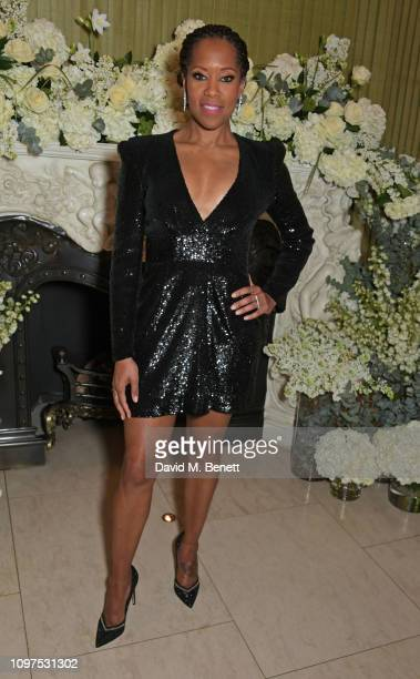 Regina King attends the British Vogue and Tiffany Co Celebrate Fashion and Film Party at Annabel's on February 10 2019 in London England