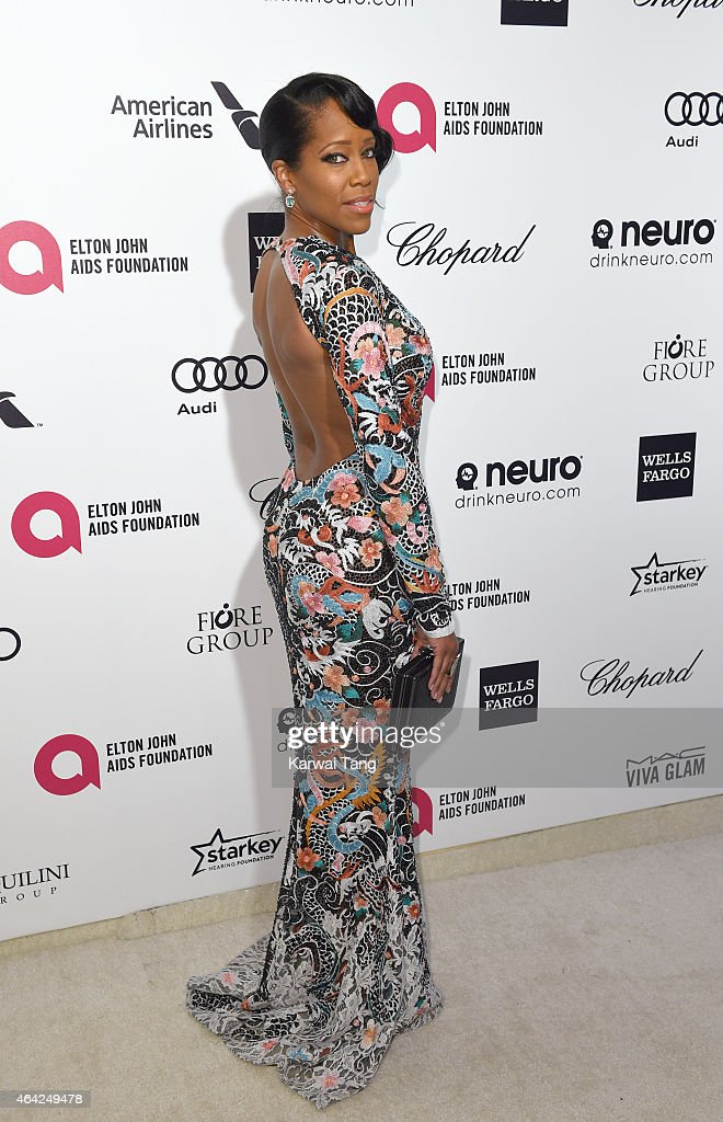 Regina King attends the Elton John AIDS Foundation's 23rd annual Academy Awards Viewing Party at The City of West Hollywood Park on February 22, 2015 in West Hollywood, California.