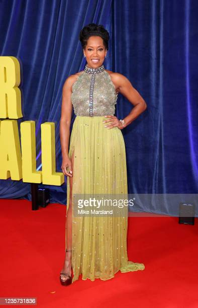 """Regina King attends """"The Harder They Fall"""" World Premiere during the 65th BFI London Film Festival at The Royal Festival Hall on October 6, 2021 in..."""