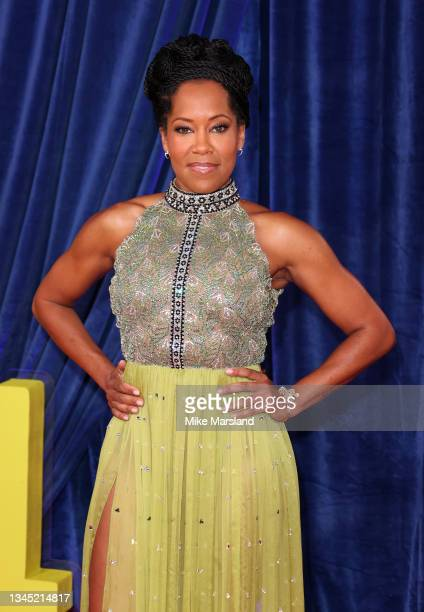 """Regina King attends """"The Harder They Fall"""" World Premiere during the 65th BFI London Film Festival at The Royal Festival Hall on October 06, 2021 in..."""