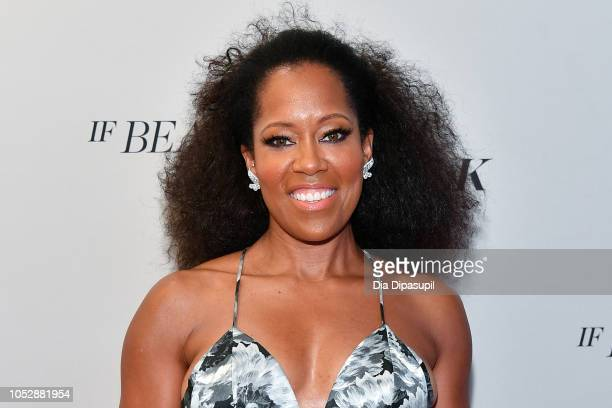 Regina King attends the If Beale Street Could Talk US premiere during the 56th New York Film Festival at The Apollo Theater on October 09 2018 in New...