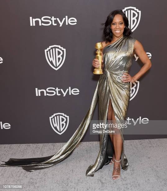 Regina King attends the InStyle And Warner Bros Golden Globes After Party 2019 at The Beverly Hilton Hotel on January 6 2019 in Beverly Hills...