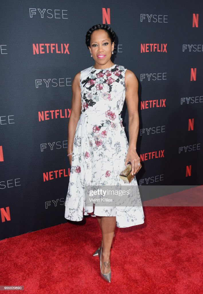 Regina King attends the Netflix FYSee Kick Off Party at Raleigh Studios on May 6, 2018 in Los Angeles, California.