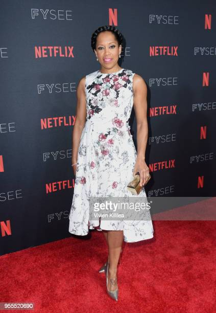 Regina King attends the Netflix FYSee Kick Off Party at Raleigh Studios on May 6 2018 in Los Angeles California