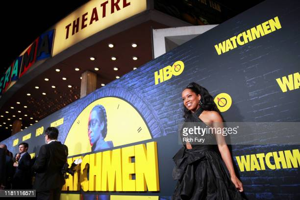 Regina King attends the premiere of HBO's Watchmen at The Cinerama Dome on October 14 2019 in Los Angeles California