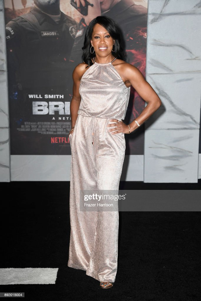 Regina King attends the Premiere Of Netflix's 'Bright' at Regency Village Theatre on December 13, 2017 in Westwood, California.
