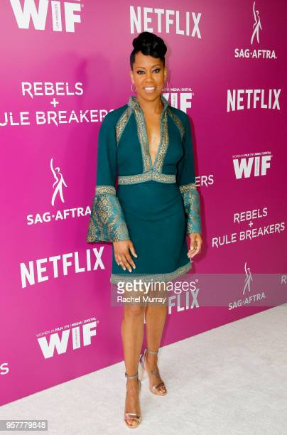 Regina King attends the Rebels and Rule Breakers Panel at Netflix FYSEE at Raleigh Studios on May 12 2018 in Los Angeles California