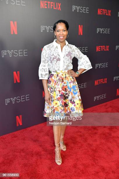 Regina King attends the 'Seven Seconds' panel at Netflix FYSEE on May 22 2018 in Los Angeles California
