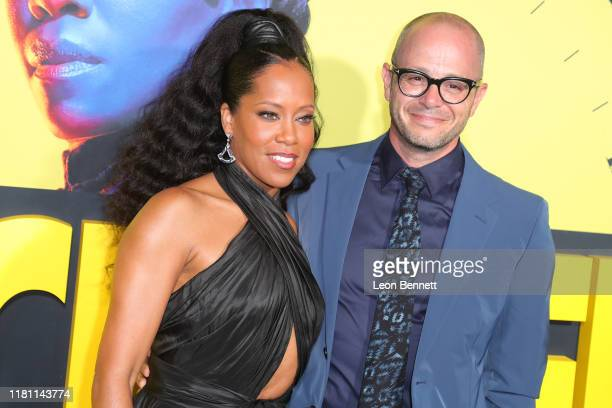 Regina King Damon Lindelof attend Premiere Of HBO's Watchmen at The Cinerama Dome on October 14 2019 in Los Angeles California