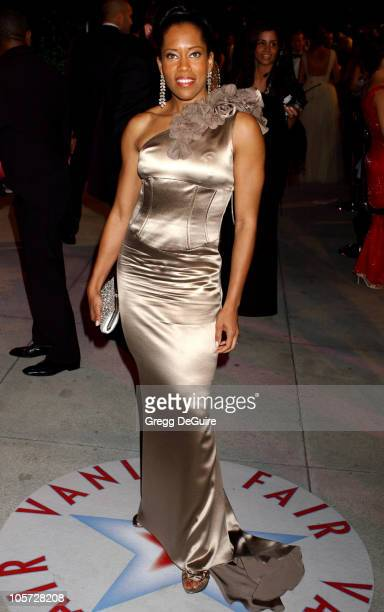 Regina King during 2005 Vanity Fair Oscar Party Arrivals at Mortons in Los Angeles California United States