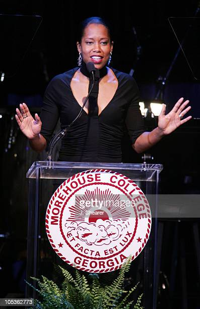 Regina King during A Tribute to Ray Charles Hosted by Morehouse College and Bill Cosby Show at Beverly Hilton in Beverly Hills California United...