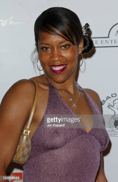 Regina King during P Diddy Hosts 2003 MTV Movie Awards AfterParty at Private Residence in Beverly Hills California United States