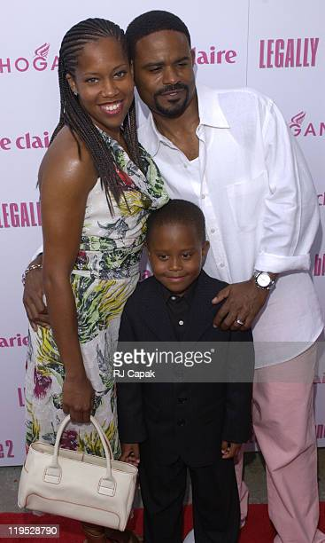 Regina King Ian Alexander and Ian Alexander Jr during Legally Blonde 2 Red White Blonde Special Screening in Southampton New York at United Artists...
