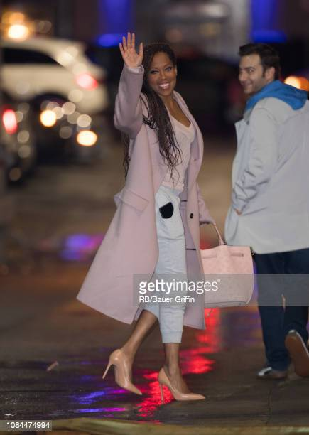 Regina King is seen at 'Jim my Kimmel Live' on January 17 2019 in Los Angeles California