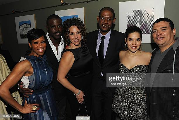 Regina King Lance Gross Diana Maria Riva Forest Whitaker America Ferrera and Carlos Mencia attend the after party for the premiere of Our Family...