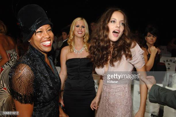 Regina King Nicky Hilton and Bijou Phillips during Olympus Fashion Week Spring 2006 Gwen Stefani for LAMB Front Row and Backstage at Roseland in New...