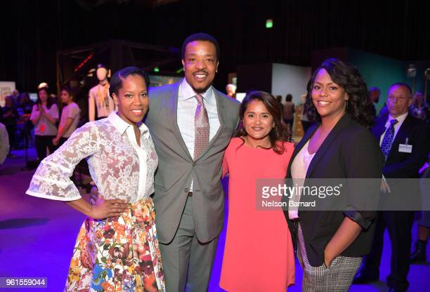 Regina King Russell Hornsby Veena Sud and Kristi Henderson attend the 'Seven Seconds' panel at Netflix FYSEE on May 22 2018 in Los Angeles California