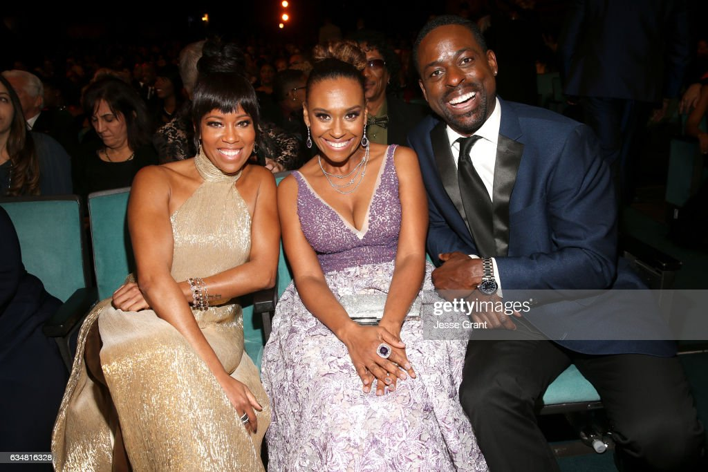 Regina King, Ryan Michelle Bathe and Sterling K. Brown attend the 48th NAACP Image Awards at Pasadena Civic Auditorium on February 11, 2017 in Pasadena, California.