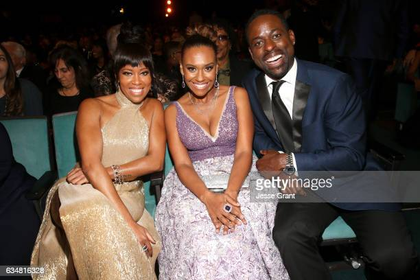 Regina King Ryan Michelle Bathe and Sterling K Brown attend the 48th NAACP Image Awards at Pasadena Civic Auditorium on February 11 2017 in Pasadena...