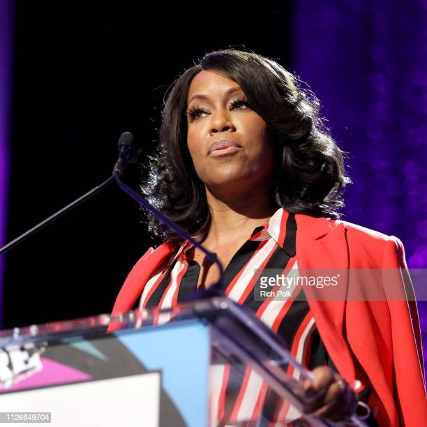 Regina King speaks onstage during the 2019 Essence Black Women in Hollywood Awards Luncheon at Regent Beverly Wilshire Hotel on February 21 2019 in...