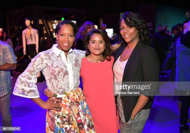 Regina King Veena Sud and Kristi Henderson attend the 'Seven Seconds' panel at Netflix FYSEE on May 22 2018 in Los Angeles California