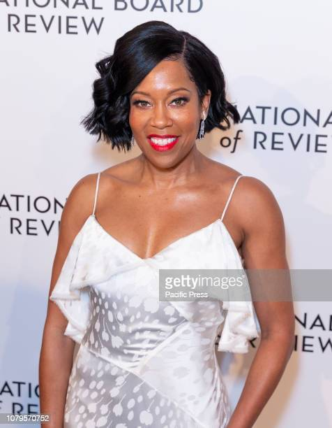 Regina King wearing dress by Zac Posen attends National Board of Review 2019 Gala at Cipriani 42nd street.