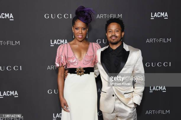 Regina King, wearing Gucci, and Ian Alexander Jr. Attend the 2019 LACMA Art + Film Gala Presented By Gucci at LACMA on November 02, 2019 in Los...