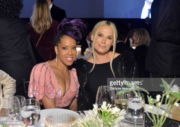 Regina King wearing Gucci and Molly Sims attend the 2019 LACMA Art Film Gala Presented By Gucci at LACMA on November 02 2019 in Los Angeles California