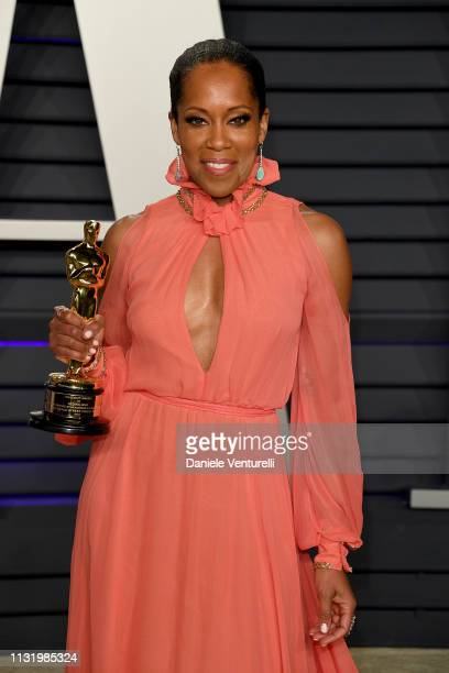 Regina King winner of Best Actress in a Supporting Role for 'if Beale Street Could Talk' attends 2019 Vanity Fair Oscar Party Hosted By Radhika Jones...