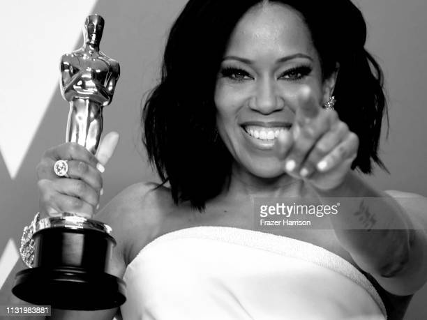 Regina King winner of Best Supporting Actress for 'If Beale Street Could Talk' poses in the press room during the 91st Annual Academy Awards at...